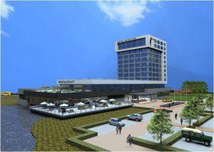 Het nieuwe van der Valk hotel op bedrijvenpark A1
